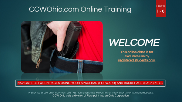 CCW Ohio - Online CCW Concealed Carry Training Class - Ammo and